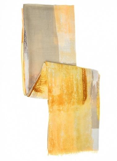 Monamoda Desenli Şal Sarı